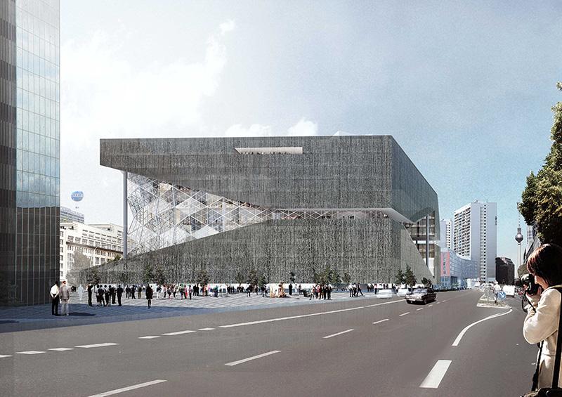 Neubau Axel Springer Verlag Berlin, © OMA Architects